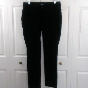Seven7 Stretch Slim Velour Paisley Print Pants